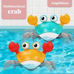 Wholesale Baby Bath Toys Simulation Leash Crabs Clockwork Swimming Beach Pool Bathtub Toy Play Water Learning Walking Game