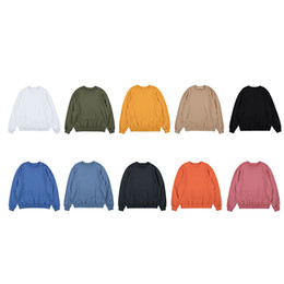 Wholesale sections sweatshirt hoodies for sale – custom Mens Tide Thick Section Hoodies Fashion Couple Sweatshirt Oversize Solid Color Wide Round Neck Sweatshirts Streetwear