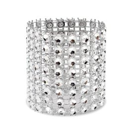 diamond napkin rings for weddings UK - Best Napkin Ring, 120 Pieces Of Napkin Ring Diamond Decoration, Suitable for Placement, Wedding Reception, Dinner or Holiday P