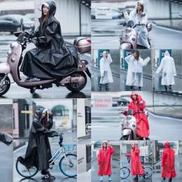 coating battery NZ - 3dX2j clfjR Women's thi Transparent adult Protection whole body double brim electric battery car raincoat rain long Coat protection anti-rain