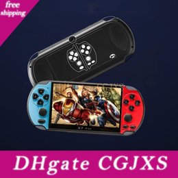 video game console display UK - New 5 .1 Inch Display X7 Plus Handle Game Console Retro Chilren Game System Built In 8g Classic For Sup Gba Arcade Dual Joystick Video Game