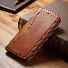magnetic iphone case genuine leather NZ - cgjxs Luxury Genuine Leather Case For Iphone 11 Pro Max Handmade Card Holder Wallet Magnetic Flip Book Cover For Iphone 11 2019 Coque