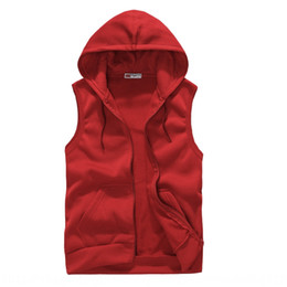 Wholesale red sweater vest men for sale – oversize 2020 trendy men s couple men s class clothes solid color vest Coat vest sweater Spring and Autumn white wear recommended sweater coat