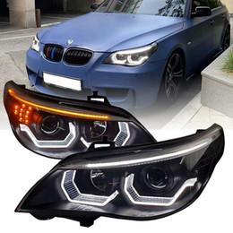 LED head light for BMW E60 520i 523i 525i 530i 2003 to 2007 and 2008 2010 year headlamp retrofit assembly black color