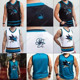 Wholesale tank sharks resale online - San Jose Sharks Tank Jersey Logan Couture Joe Thornton Evander Kane Brent Burns Mario Ferraro Martin Jones Dylan Gambrell Timo Meier Jerseys