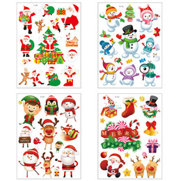 Current Christmas Holiday Hotel Mall Window Glass Electrostatic Paste Sticker Decoration Exquisite Cartoon Room Decoration Sticker on Sale