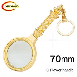 hand hold magnifier Australia - RrHCg High-grade copper plating Advanced copper plating 8 times handling 8 times old people reading newspaper flower handle hand-held glass