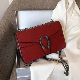 navy chain handbag Australia - Factory wholesale women handbag new lychee leather chain bag elegant Joker leather shoulder bag street trend leather women messenger bag