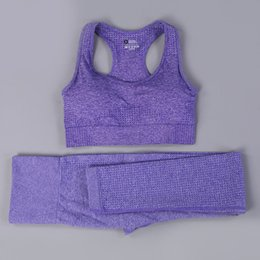 seamless yoga set Australia - Women Vital Seamless Yoga Set Fitness Short Sleeve Long Crop Top Shirts Women High Waist Sports Suits Gym Set Clothes