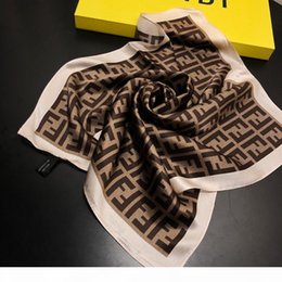 flight scarf NZ - 2019 women scarf silk feeling hair neck scarves square brand office Printing Hotel Waiter Flight Attendants 50*50cm