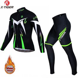l x l clothing Australia - 8EDQo X-TIGER Warm clothing riding riding cycling long sleeve warm autumn and winter men's and women's cycling suit long sleeve fleece suit