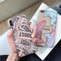 Wholesale iphone boost for sale - Group buy trend Kanye Omari West BOOST Shoe box case for iphone pro X XR XS Max s plus Luxury Ye sneakers Soft silicon cover capa
