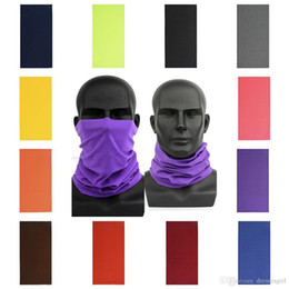 stock beanies 2021 - US STOCK! Cycling Unisex Magic Head Face Protective Mask Neck Gaiter Biker's Tube Bandana Scarf Wristband Beanie Cap Outdoor Sports