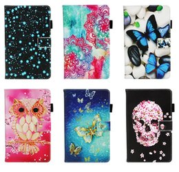 ipad butterfly case Canada - For Ipad Mini 1 2 3 4 ,Ipad 2 3 4 ,Air 2 5 6 9 .7 2017 2018 ,7 Pro ,10 .5 Lace Butterfly Skull Owl Star Leather Wallet Case Pouch Cover
