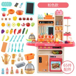 toys cooking UK - Child kitchen toy simulate water spray food accessories toy simulate cooking fun puzzle more style play house