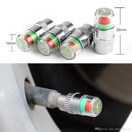 valve stems Australia - 4PCS Tire Pressure Detecting Cap Visible Car Accessories Alarm Monitor Indicator 4pcs set Auto Tire Pressure Monitor Valve Stem BBA250