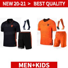 Wholesale mens short socks white for sale – custom adults kit socks Netherlands soccer jerseys DE JONG Holland football mens suit shirt VAN DIJK VIRGIL MEMPHIS SET