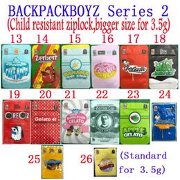Backpackboyz 3 5g Mylar Bags 3.5G Resealable Cheiro Prova sacos Baggies Backpack Boyz Biscotti Gelato 41 Guarana Billy Kimber Zerbert Gelatti