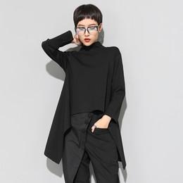Wholesale tuxedo t shirts online – design FDfFU Women s Autumn dovetail tuxedo top tuxedo outerwear top slimming personality irregular front short back long women s T shirt