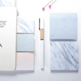 Marble color memo pads Notes Self Adhesive Memo Pad Sticky Notes School Office home notepads LX2947 on Sale