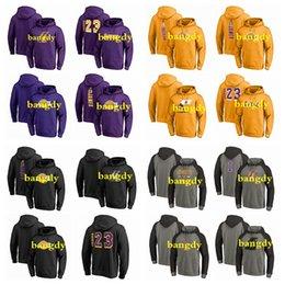 Toptan satış Özel Erkek 2020 Los AngelesLakersnbaLeBron 23 James atletik Açık Kıyafet Klasik Uygulama Performansı Kazak Hoodie