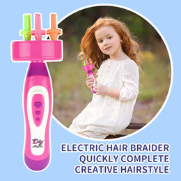 kids roller toy Australia - DIY Automatic Braiding Machine Electric Stylish Play House Girls Toys Hair Accessories Twist Braide Tool Weave Roller Beauty Kids Toys