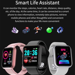 Wholesale Y68 D20 Bluetooth Smart Watch Waterproof Sport Fitness Tracker Smart Bracelet Blood Pressure Heart Rate Monitor Smartwatch