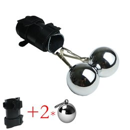 Leather Parachute Ball Stretcher Penis Enlarger Weight Stretching Delay Ejaculation Cock Ring Sex Toys For Men on Sale