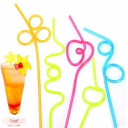 crazy drinking straws Canada - Paper Straw PVC Straws Crazy Reusable Drinking Straws In Assorted Colors Great For Parties Carnivals Fun Mixed Color nGzu#