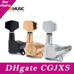 electric guitar machine head tuners Australia - Free Shipping Guitar Sealed Small Peg Tuning Pegs Tuner Machine Heads For Acoustic Electric Guitar Guitar Parts With Logo