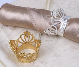 diamond napkin rings for weddings UK - Metal Diamond For Holder Shape Home Decoration Wedding Napkin Napkin With Ring Imitation Crown Table Crown home2009 GEJun
