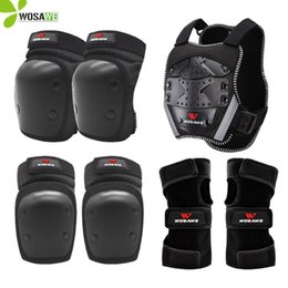 knee protectors NZ - WOSAWE Kids' Sports Knee Hand Wrist Elbow Protection Set Suit Snowboard Skateboard Bike Roller Ski Sports Body Protector Kit