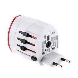Опт Все в одном Dual USB порт и США Великобритании AU EU Универсальный адаптер AC Power Plug адаптер EU Великобритании США AU Белый черный DHL доставка бесплатно