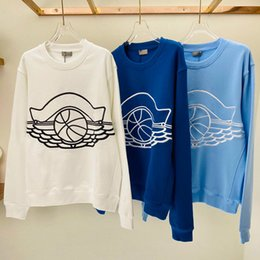 Wholesale men jumper resale online – 2020 Autumn Winter Europe France Paris USA Collaborate Men Women Basketball Embroidery Hoodie Cotton Hoodie Casual Street Sweatshirt Jumper