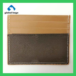 Wholesale silk male for sale - Group buy d esigner bags womens fashion original male and female card holder leather public card package credit card package