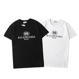 Wholesale t shirts designed online – design 20ss Man Fashion BB Letter Print Crew Neck T Shirts For Men Women Streer Wear Stylist Tees Shirt Design Cotton Tshirt Size S XL