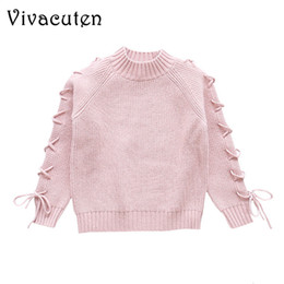 long tops for girls NZ - Sweater For Girls Autumn Winter Christmas Sweaters Children Knitted Pullover Outerwear Kids School Clothes Girl Long Sleeve Tops