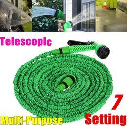 150FT 45m Expandable Flexible Extra Long Garden Hose Pipe Expanding High Pressure Retractable Hose Green+7 Setting Spray Gun