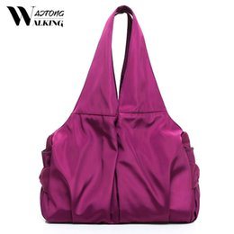pink nylon tote bag NZ - Large Capacity Nylon Shoulder Bags For Women New Casual Shopping Handbag Waterproof Mommy Mother Tote Travel Bag High Quality CX200813