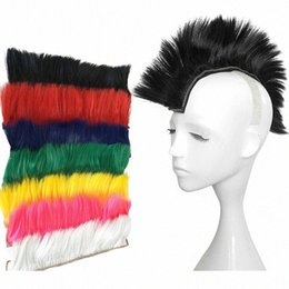 punk wigs NZ - Motorcycle Helmet Dreadlocks Ponytail Braid Punk Hair Toupee Mohawk Modeling Wig Motorbike Helmet Decor Accessories Nguy#