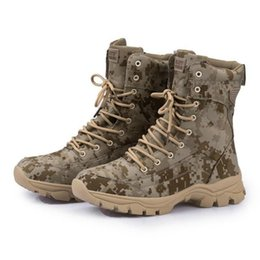 Full Grain Leather Modern Waterproof Outdoor Shoes Military Boots Sports Men Sports Warm Army Tactical Boots Tooling Hiking Shoes In Stock on Sale