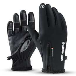windproof waterproof touch screen gloves UK - nx8Tn Winter outdoor warm touch screen Warm wool Gloves wool gloves waterproof zipper men's and women's windproof fleece riding climbing ski