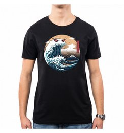 Wholesale nippon for sale – custom T SHIRT UOMO THE GREAT MONSTER OF KANAGAWA JAPAN NIPPON VT0122A PACDESIGN Short Sleeve O Neck Cotton shirts