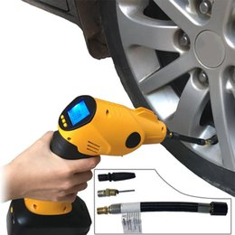 Wholesale Rechargeable Cordless Tire Inflator Automatic Wireless Handheld Vehicle Pump Multifunctional Portable Emergency Air Compressor