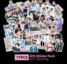 77pcs / set 20sets / lote BTS Dynamite Sticker Pack em Promoção