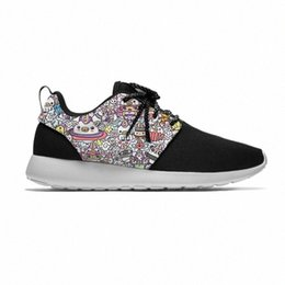 3d printed shoes UK - Graffiti Cartoon Cute Funny Popular Kids Sport Running Shoes Casual Breathable Lightweight 3D Print Sneakers Boys Children Girl RKmc#
