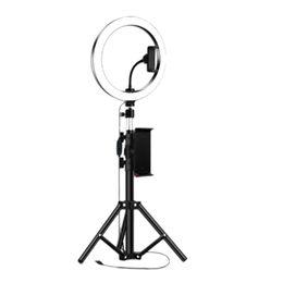 10inch Annulaire avec trépied pour LED vidéo IPad Photographie studio Bague Lampe 5600K avec USB Plug pour le maquillage en Solde