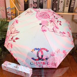 Moda classico ombrello per le donne volte ombrello parasole pieghevole ingranaggio della pioggia antivento UV ultravioletto pezzo Sun con il regalo Box GHTERHRHY in Offerta