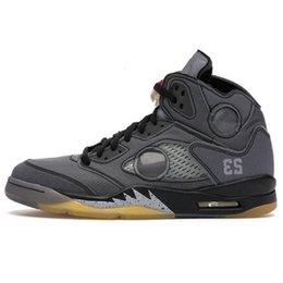Wholesale New Alternate Grape 5 Jumpman 5s Basketball Shoes Se Orange 2020 Fire Red White Off Black Muslin Mens Women Designer Sport Shoes 36-47