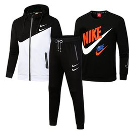 Wholesale men slim fit tracksuit resale online – Men Tracksuit Suit Tracksuit Autumn Winter Men Outfits Sportswear Running Sweatsuit Loose Fit Clothes Men